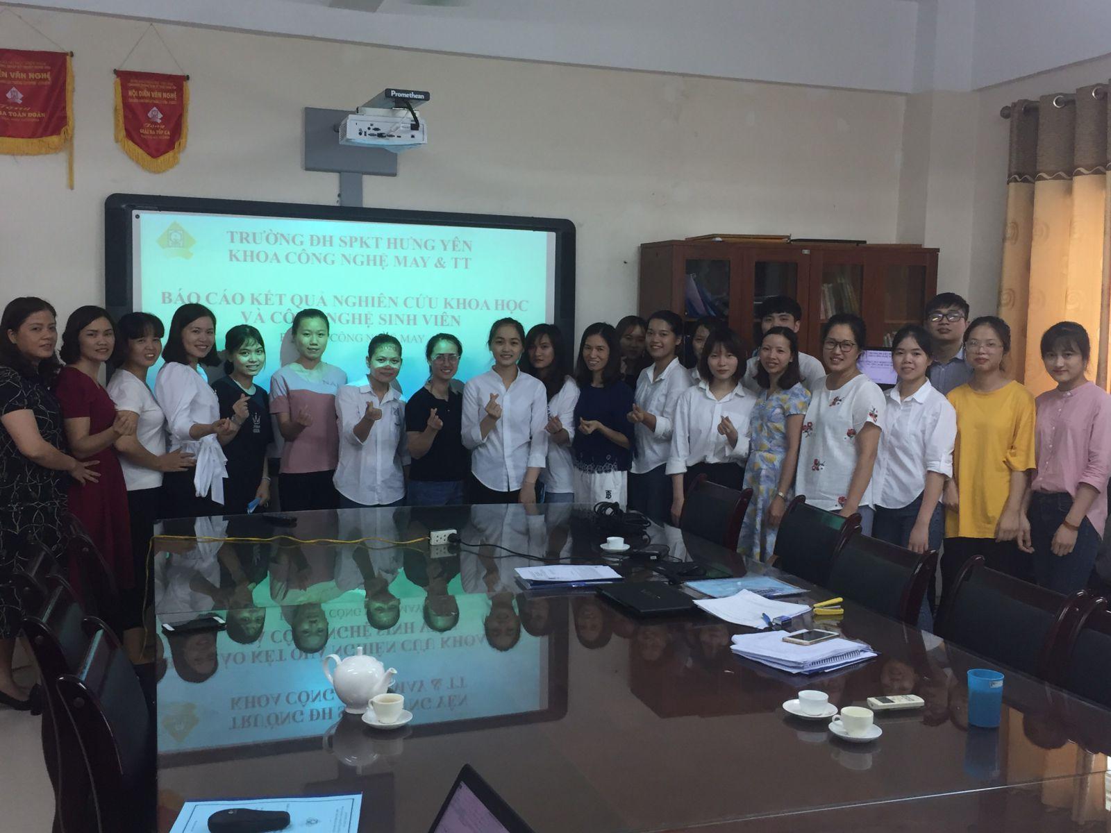 Lễ báo cáo đề tài sinh viên nghiên cứu khoa học Bộ môn Công nghệ may năm học 2019-2020