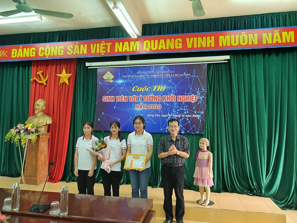 Sinh viên khoa CN May & Thời trang giành giải Nhất cuộc thi Sinh viên với ý tưởng khởi nghiệp cấp trường năm 2020
