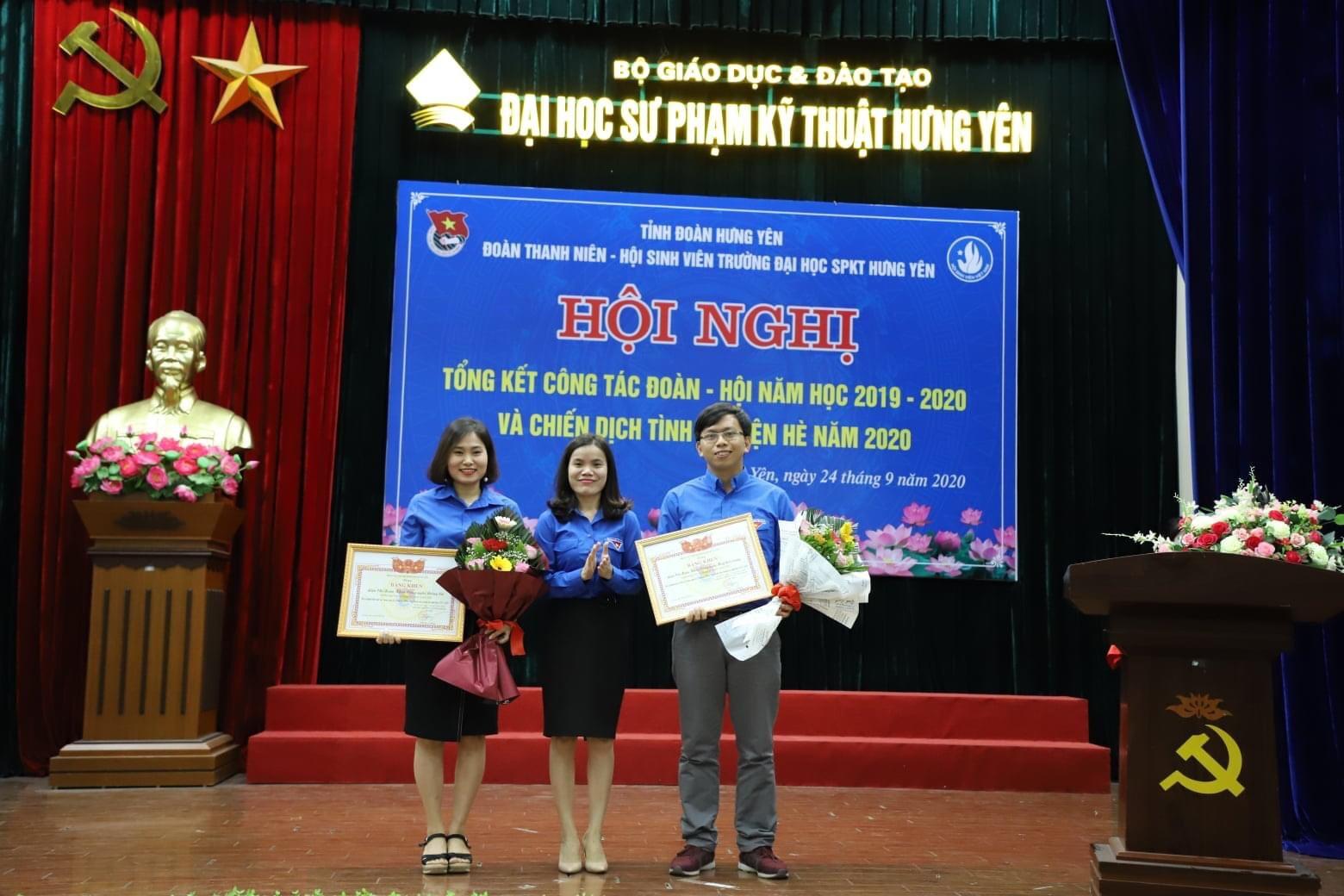LCĐ Công nghệ May & Thời trang nhận bằng khen của Tỉnh Đoàn Hưng Yên